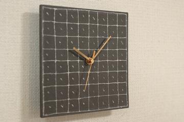 信楽焼き時計1